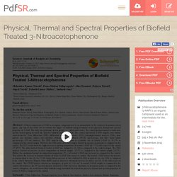 Study Biofield Treated 3-Nitroacetophenone Significant Impact