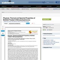 Biofield Treatment Effect on 3-Nitroacetophenone