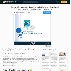 Ferringhi Residence 2 PowerPoint Presentation - ID:9866629