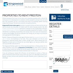 Properties To Rent Preston - Kingswood Properties
