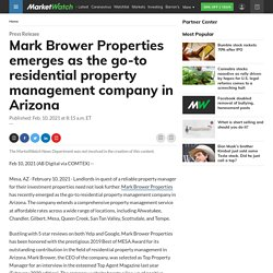 Mark Brower Properties emerges as the go-to residential property management company in Arizona
