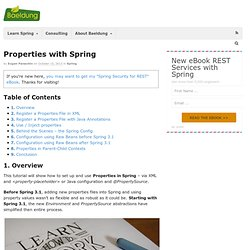 Properties with Spring