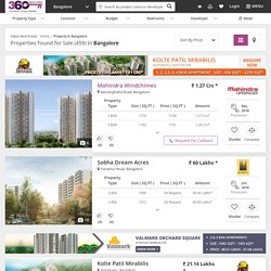 Property in Bangalore - Buy Properties in Bangalore Real estate