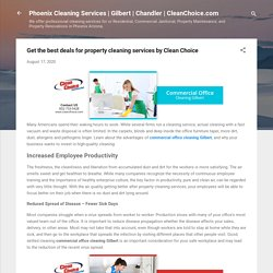 Get the best deals for property cleaning services by Clean Choice