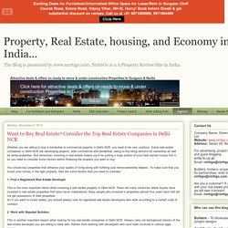 Want to Buy Real Estate? Consider the Top Real Estate Companies in Delhi NCR