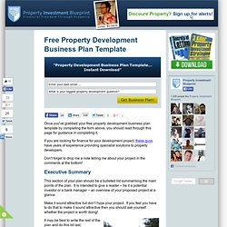 Business plans pearltrees free property development business plan template download wajeb Choice Image