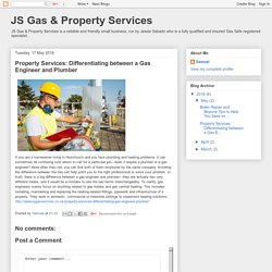 Property Services: Differentiating between a Gas Engineer and Plumber