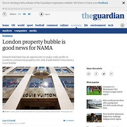 London property bubble is good news for NAMA