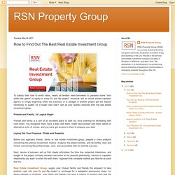 Benefits of Real Estate Investments Group