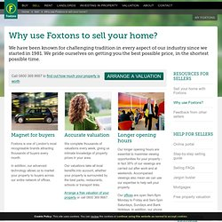 Sell your property - Why use Foxtons to sell your home in London or Surrey?