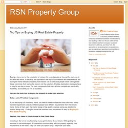 Tips to Get buy US Real Estate Property