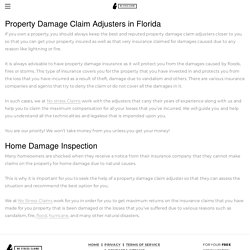 Home damage inspection miami