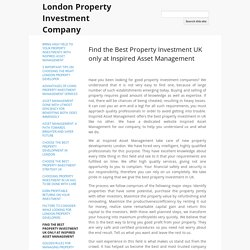 Find the Best Property Investment UK only at Inspired Asset Management