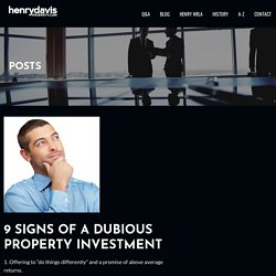 9 Signs of a Dubious Property Investment