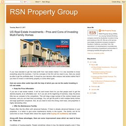 RSN Property Group: US Real Estate Investments - Pros and Cons of Investing Multi-Family Homes