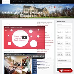 Sample Property Listing Marketing