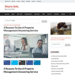 Reason for Using Property Management Answering Service