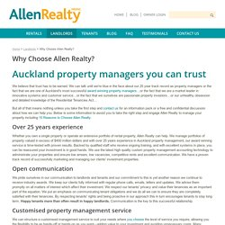 Why Choose Allen Realty for Property Management in Auckland?