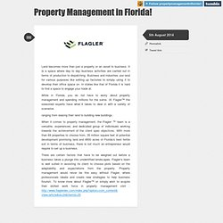 Property Management In Florida Tumblr