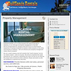 Property Management Gulf Shores
