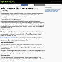 Make Things Easy With Property Management Services