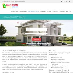 Apply for Loan Against Property online , check mortgage rates