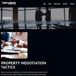 Property Negotiation tactics