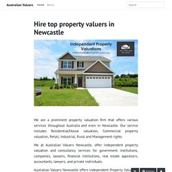 Hire top property valuers in Newcastle - Australian Valuers