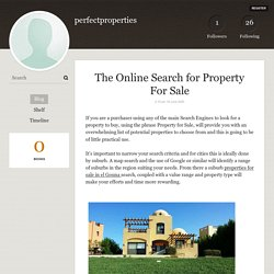 The Online Search for Property For Sale - perfectproperties