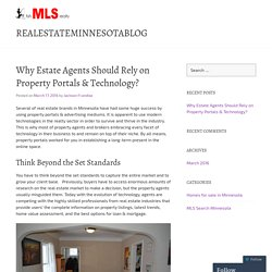 Why Estate Agents Should Rely on Property Portals & Technology?