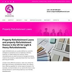Property Refurbishment Loans UK