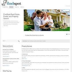 PROPERTY SERVICES: FindSpot Real Estate Finder and Property Search Tools