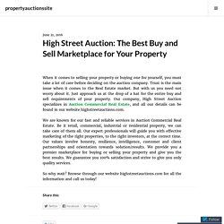 High Street Auction: The Best Buy and Sell Marketplace for Your Property – propertyauctionssite