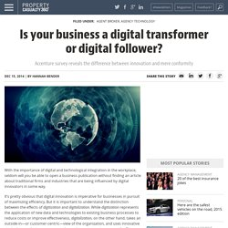 Is your business a digital transformer or digital follower?