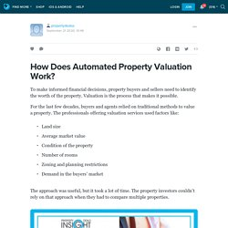 How Does Automated Property Valuation Work?