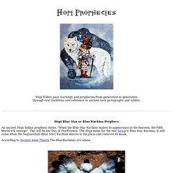 Prophéties Hopi - La prophétie de roche