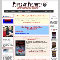 Power of Prophecy: The monthly newsletter ministry of Texe Marrs