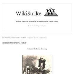LES PROPHÉTIES D'HIER À DEMAIN : le Voyant Nicolas van Rensburg - wikistrike.over-blog.com