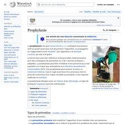 Prophylaxie