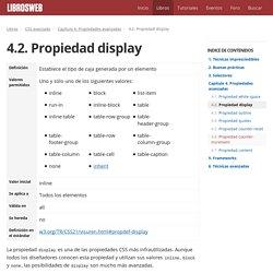 4.2. Propiedad display (CSS avanzado)
