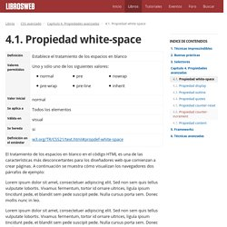 4.1. Propiedad white-space (CSS avanzado)