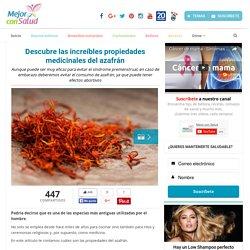 Descubre las increíbles propiedades medicinales del azafrán - Mejor con Salud