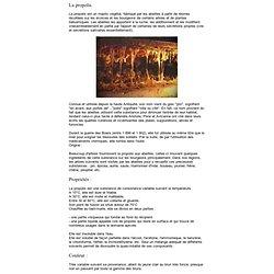 La propolis, texte francais et images, page d'insertion