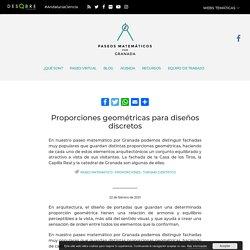 Proporciones geométricas para diseños discretos - Paseos Matemáticos