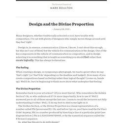 Design and the Divine Proportion