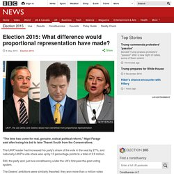 Election 2015: What difference would proportional representation have made?