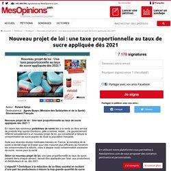 Nouveau projet de loi : une taxe proportionnelle au taux de sucre appliquée dès 2021