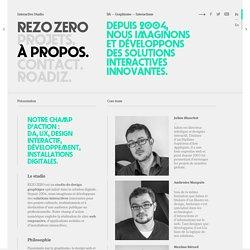 À propos de l'agence web REZO ZERO