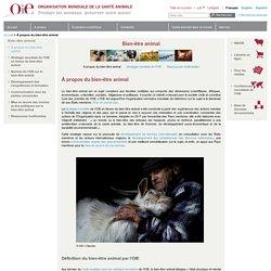 À propos du bien-être animal: OIE - World Organisation for Animal Health