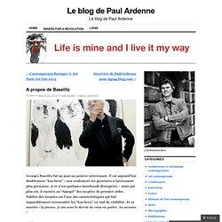 Le blog de Paul Ardenne